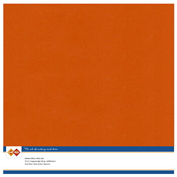 Cardstock - Linnen - autumn orange -10 pack