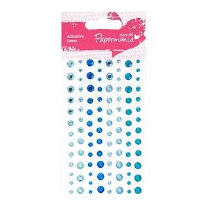 Papermania -  Adhesive Stones (104pcs) - - Aqua