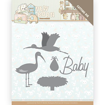 Dies - Yvonne Creations -  new born - stork
