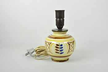 Bordslampa, Handmålad