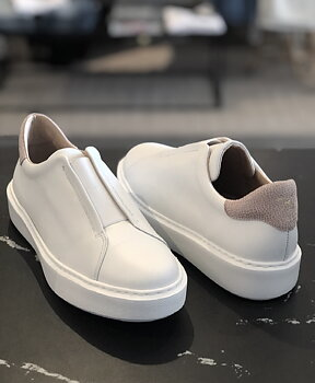 KMB Sneakers white/nude
