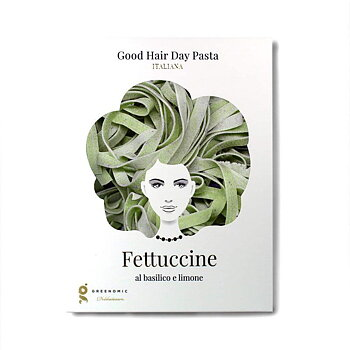 "Greenomic Good hair day pasta ""Fettuccine al basilico e limone"""