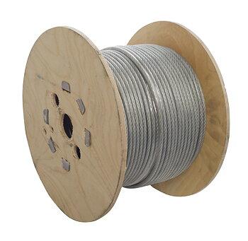 Transparent nylontäckt galvaniserad stållina 4mm