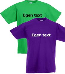 T-shirt jr egen text