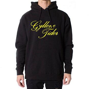 Svart hoodie: Text