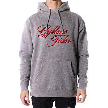 Grå hoodie: Text
