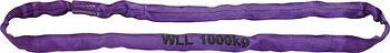 Rundslingor, 1000kg violett, 1 m effektiv längd, omfång 2 m