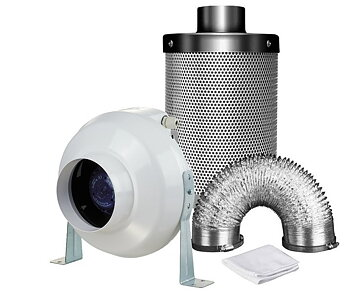 Ventilation Kit VK125 365m3/h + Mastercarbo 550m3/h