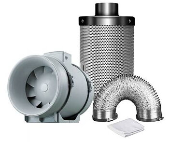 Ventilation KIT TT100 187m3/h + Mastercarbo 260m3/h