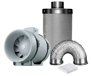 Ventilation kit TT125 280m3/h + Mastercarbo 400m3/h