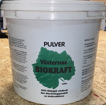 Biokraft 100% Biologisk växtkraft Pulver 5L