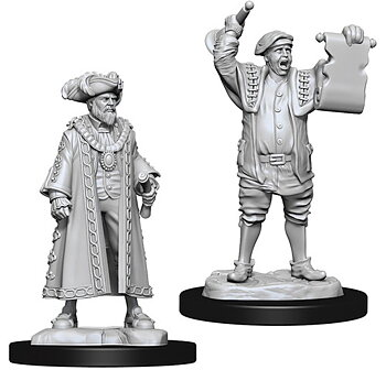 Pathfinder Battles Deep Cuts Minis: Mayor & Town Crier
