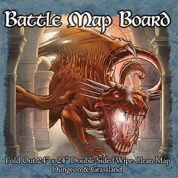 Battle Mat Board - Grassland & Dungeon