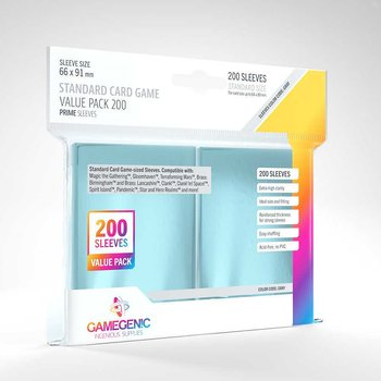 """Card Sleeves """"Prime Standard Value Pack"""" Clear 66x91mm (200)"""