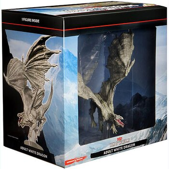 D&D Premium Painted Figure: Adult White Dragon