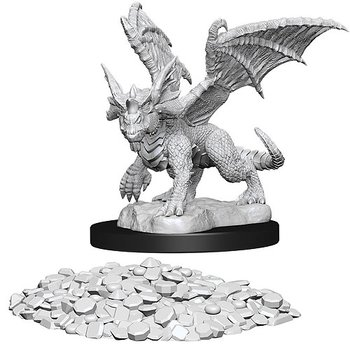 D&D Nolzurs Marvelous Unpainted Miniatures: Blue Dragon Wyrmling