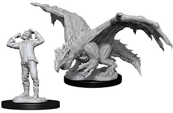 D&D Nolzurs Marvelous Miniatures: Green Dragon Wyrmling & Afflicted Elf
