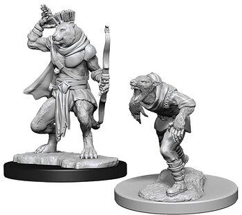 D&D Nolzurs Marvelous Miniatures: Wererat & Weretiger
