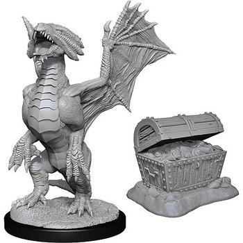 D&D Nolzurs Marvelous Miniatures: Bronze Dragon Wyrmling & Pile of Sea Found Treasure
