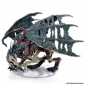 D&D Icons of the Realms Miniatures: Boneyard Premium Set - Green Dracolich