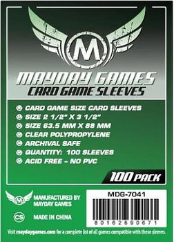 Card Game Card Sleeves (63.5x88mm) - 100 pack