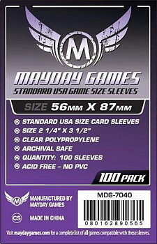 Standard USA Card Sleeves (56x87mm) - 100 pack