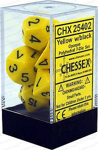 Opaque Poly 7 Set: Yellow/Black
