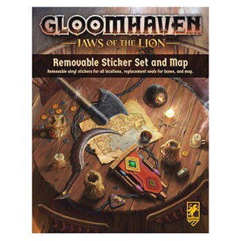 Gloomhaven: Jaws of the Lion Removable Sticker Set and Map