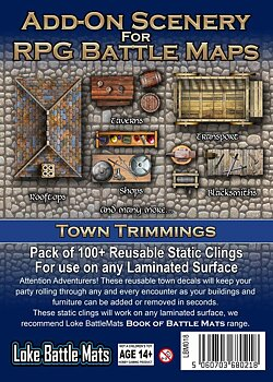 Add-On Scenery for RPG Battle Maps - Town Trimmings