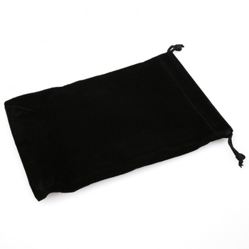 Chessex Large Suede Cloth Dice Bag Black