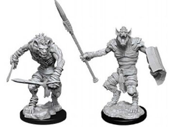 D&D Nolzurs Marvelous Miniatures: Gnoll & Gnoll Flesh Gnawer