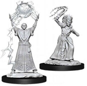 D&D Nolzurs Marvelous Miniatures: Drow Mage & Drow Priestess