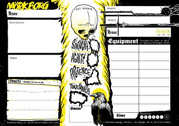 Mörk Borg Character Sheets