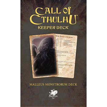 Call of Cthulhu RPG - The Malleus Monstrorum Keeper Deck + PDF
