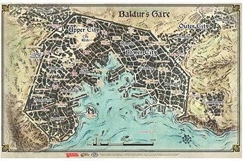 D&D Descent Into Avernus - Baldur's Gate Map (23' x 17')