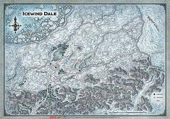 "D&D Icewind Dale: Icewind Dale - Map (31""x21"")"