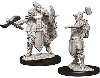 D&D Nolzurs Marvelous Unpainted Miniatures: Female Half-Orc Barbarian
