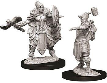 D&D Nolzurs Marvelous Unpainted Miniatures: Female Half-Orc Barbarian