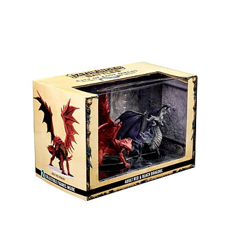 Pathfinder Battles: City of Lost Omens - Adult Red & Black Dragons Premium Set