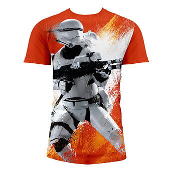 Star Wars The Force Awakens: Flametrooper Orange T-Shirt size XL
