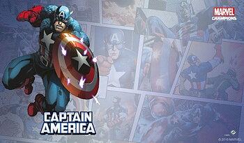 Marvel Champions: Captain America  Game Mat