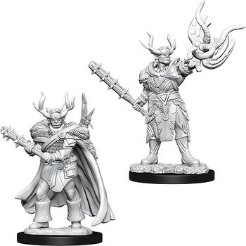 Pathfinder Battles Deep Cuts Minis: Male Half-Orc Druid