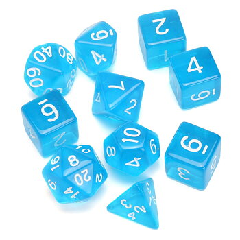 Dice Set - Blue