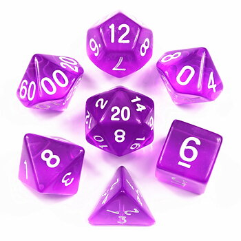 Dice Set - Purple