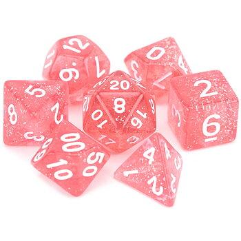 Dice Set - Pink Glitter
