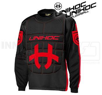 Unihoc Shield Goalie Jersey black/red
