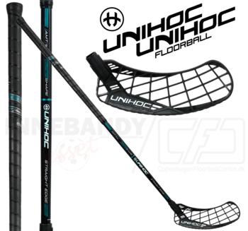 UNIHOC Epic Straight Edge 26 black/turquoise