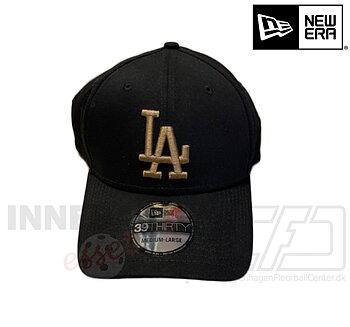 New Era LA Dodgers 39thirty MLB basic black gold