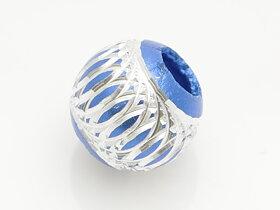 Lantern aluminium pärla blå