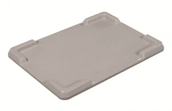 Lid for crate UNI 40x30, GREY plastic